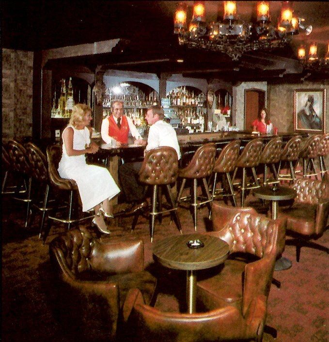 Lounge at the Howard Johnson Hotel, 1974 - today's Hooters. via Classiclasvegas