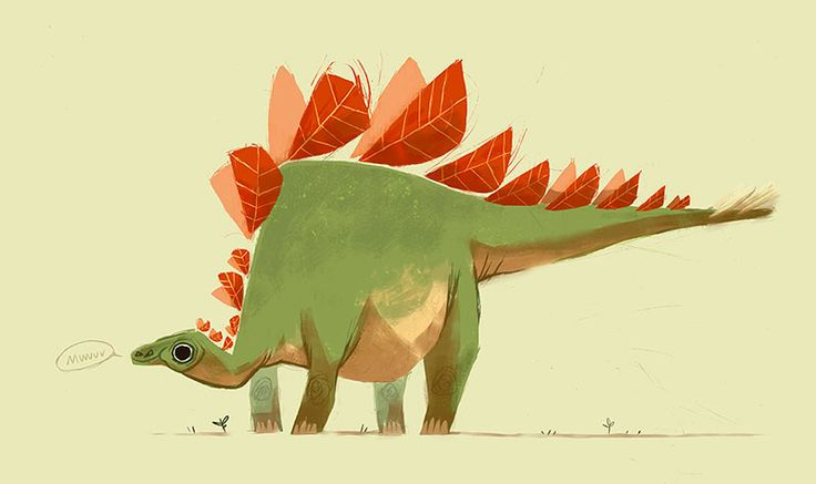 Stegosaurus says Muuuu// Character Design on Behance