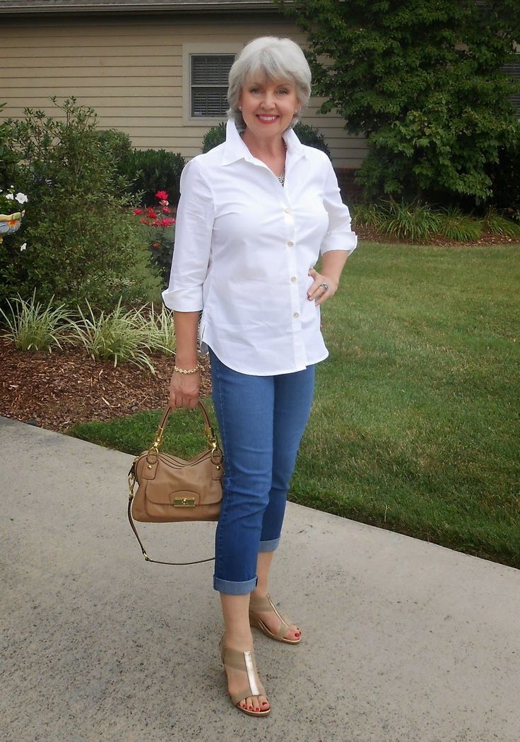 Fifty Not Frumpy White Shirt And Jeans My Style Pinterest Classic White Shirt Street