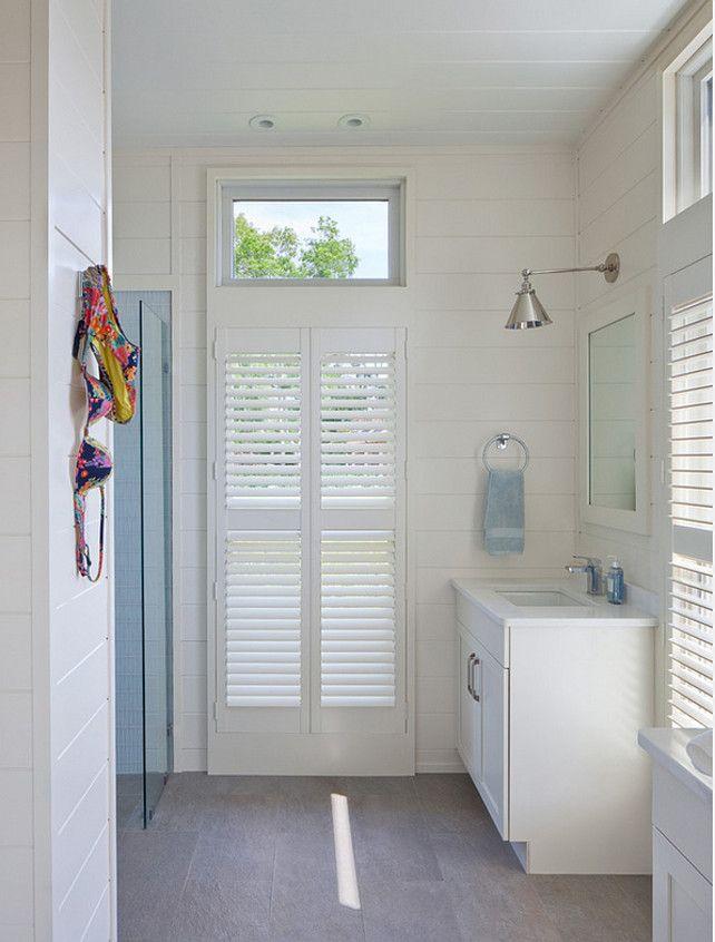 Open Pool House Bathroom. Anthony Crisafulli Photography. Gale Goff  Architect.