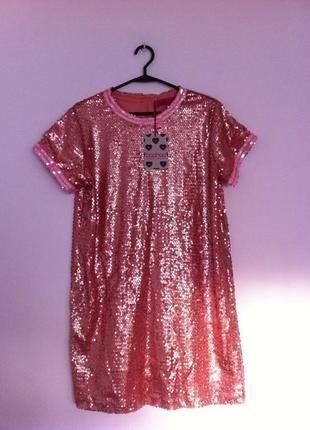 Kup mój przedmiot na #vintedpl http://www.vinted.pl/damska-odziez/sukienki-wieczorowe/10881896-tshirt-dress-rozowa-cekinowa-boohoo