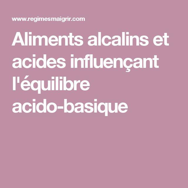 équilibre acido basique basique aliments alcalins equilibre ...