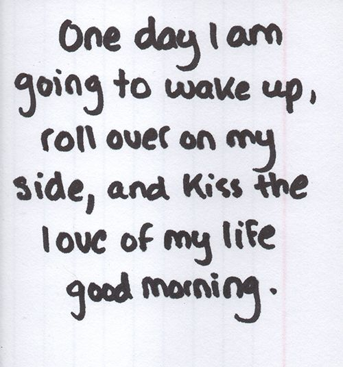 good morning, sweetie... and in case i don't see you, good afternoon, good evening and good night. <3