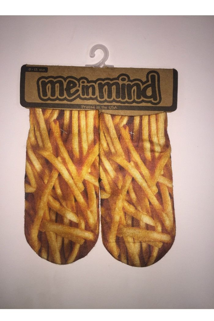 Me in Mind - French Fries Socks | - R + D Hipster Emporium - Inspirational Fashion & Boho Chic