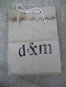 Wedding Favor idea- cute paper bag w/ candy in it.