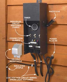 How to Install Deck Lighting  Low Voltage Outdoor  Best 25  Low voltage outdoor lighting ideas only on Pinterest  . Low Voltage Led Landscape Lighting Transformer. Home Design Ideas