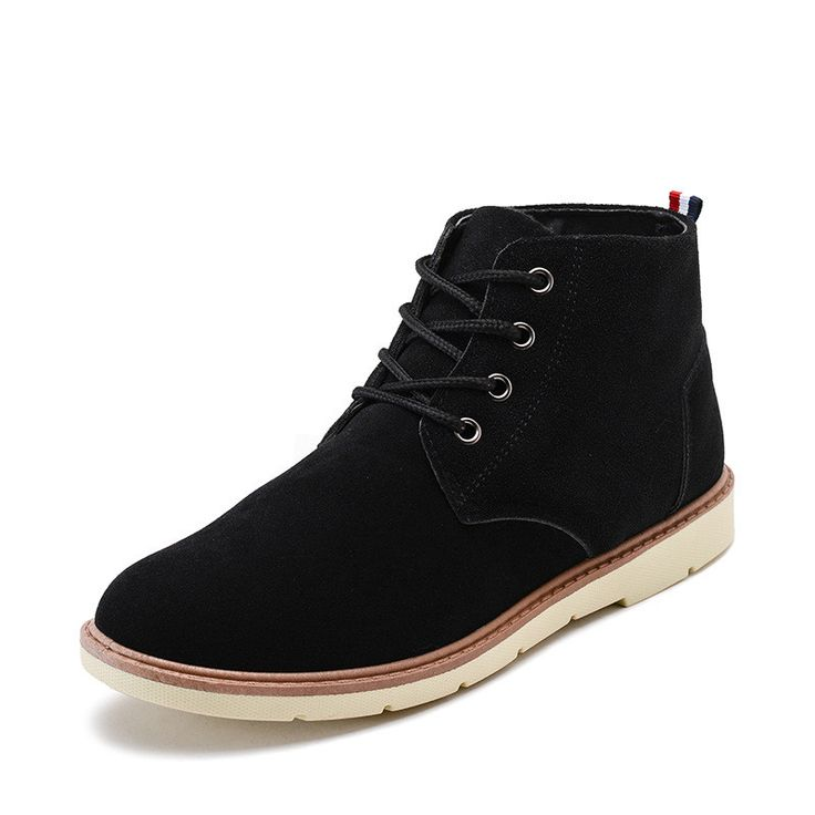 Plus Size 39-44 Warm Fur Men Winter Boots,Solid Casual Leather Snow Boots Winter Men Boots,Brand Black Male Suede Ankle Boots