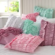 I'm going to make these...soonPillows Covers, Little Girls Room, Pbteen, Pillow Covers, Decor Pillows, Throw Pillows, Ruffles Pillows, Diy Pillows, Girl Rooms