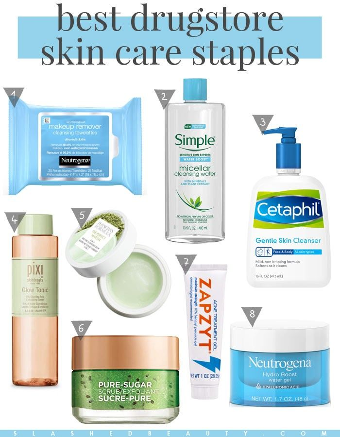 The Best Drugstore Skin Care Product Staples Slashed Beauty Gentle Skin Cleanser Skin Cleanser Products Skin Care