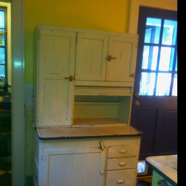 My Nangie's Hoosier cabinet in my kitchenHoosier Cabinet