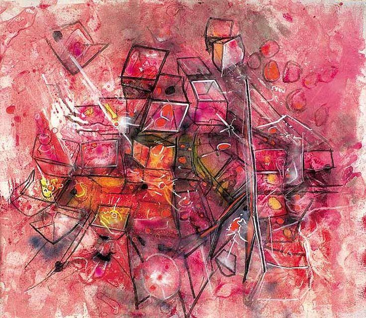 """MATTA  """"Faire croître ton être.""""  185 cm x 213 cm. 1993."""
