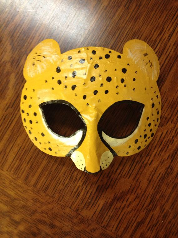 Cheetah mask cheetah costume by HighMoonCreations on Etsy, $17.00
