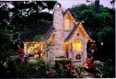 This is perfect. I want an arched front door. A split arched front door is even better. Also pointy-pitched roofs. Basically, this. : Spaces, Fairytale Cottage, Favorite Places, Sweet, Storybook Cottage, Dream House, Fairy Tales, Cottages, Cozy Cottage