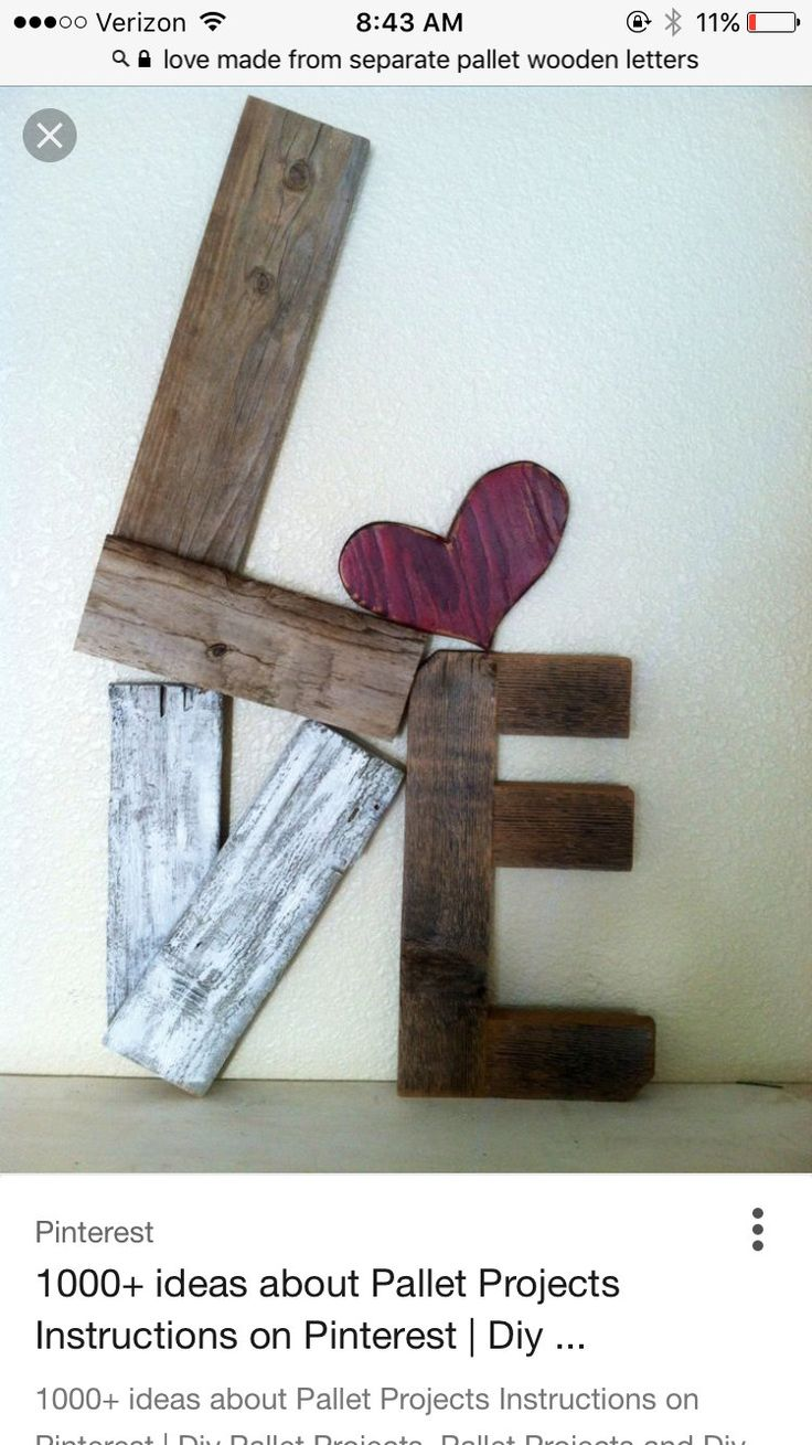Separate pieces, love sign,home decor by DeerlyRusticCo on Etsy | DIY  Projects | Pinterest | Etsy, Pallets and Craft