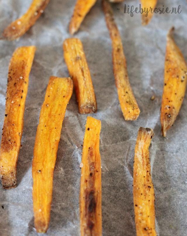 krokante zoete aardappel frietjes lifebyrosie.nl