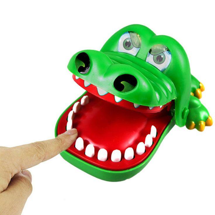 Children's Funny Trick Crazy dog Flashing Sound Shark Mouth Dentist Bite Finger Game Toy Kids Alligator Roulette Game Gag Toys
