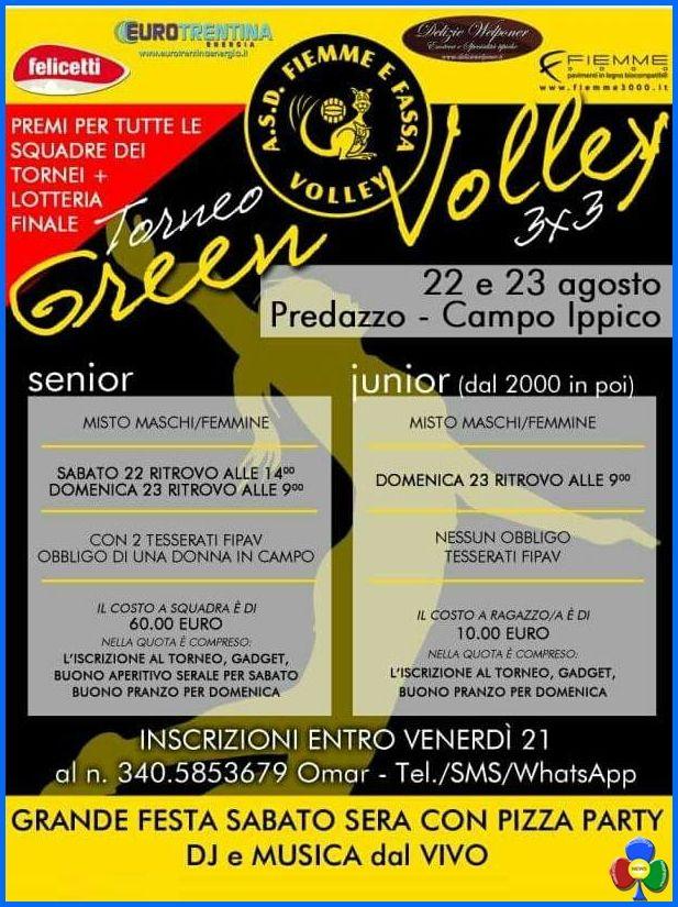 Torneo Green Volley 3×3 a Predazzo