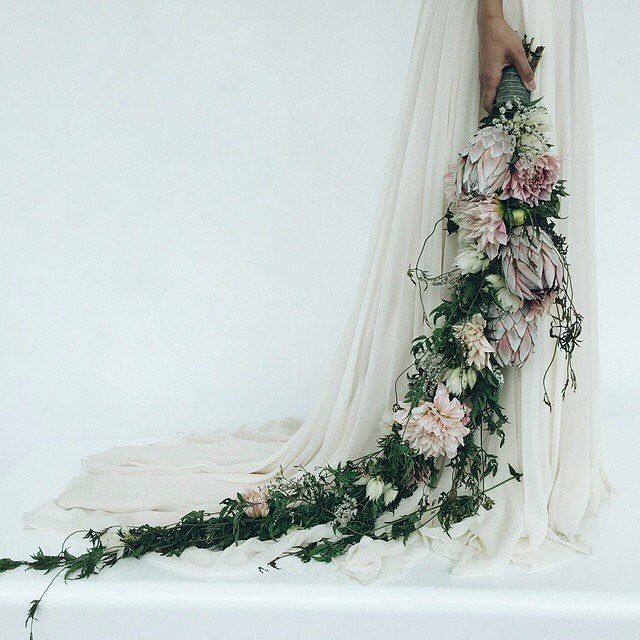 "I am seriously drooling over this ""floral whip"" INSANE cascade bouquet and now I am doubting everything. I don't need this, do I? HELP."