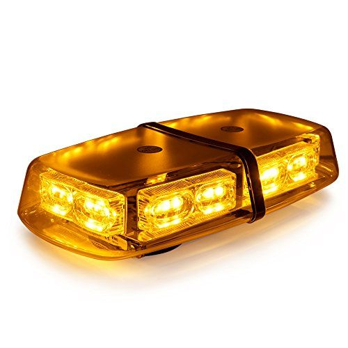 Xprite Gen 3 Amber Yellow 36 LED 18 Watts High Intensity Law Enforcement Emergency Hazard Warning LED Mini Bar Strobe Light with Magnetic Base - Compatible with: Universal compatibility for vehicles equipped with 12 volt DC cigarette adapter. Additional Features: 36 LED High Intensity Yellow/Amber Strobe Lights 16 different select-able strobe patterns. Easy patterns change by push of one button Long lasting LED lights, over 50,000 hours l...
