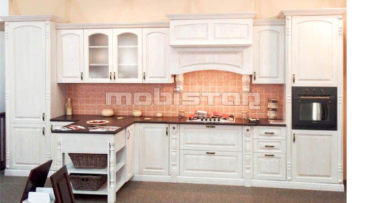 mobilier de bucatarie lemn masiv- bucatarie moderna