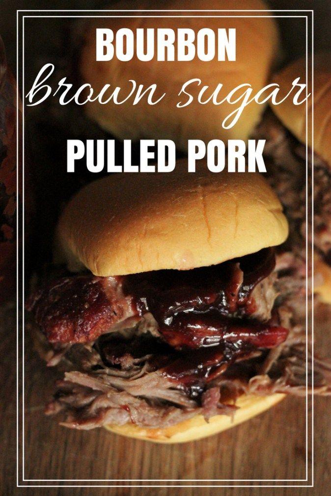 Bourbon Brown Sugar Pulled Pork Recipe with Kansas City Style BBQ Sauce