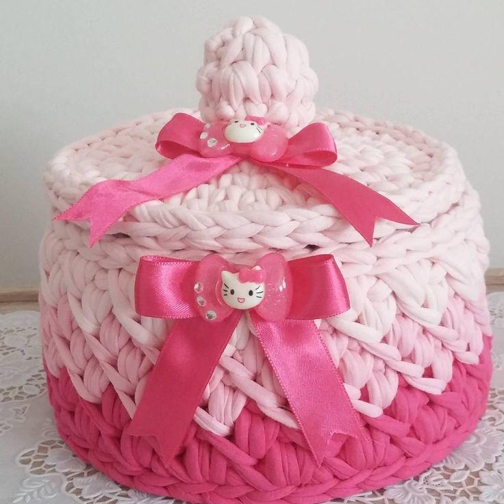 #hayırlı sabahlar arkadaşlar #2 yaşındaki #minik Ayşe Rana 'nın odasını süsleyecek. #Güzel günlerde kullanın.  #Kızbebekodası #penyeip  #penye #oyuncaksepeti  #sepet  #elişi  #evdüzenleme  #çanta  #sırtçantası  #örgümodelleri #doğum günü hediyesi  #bebek hediyesi  #tasarım  #tığişi  #örgü #crohcet  #handmade #elemeği #göznuru http://turkrazzi.com/ipost/1515787025550661992/?code=BUJKETNF9lo