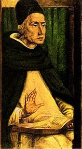 St. Albert the Great - Painting by Joos (Justus) van Gent, Urbino, ~ 1475
