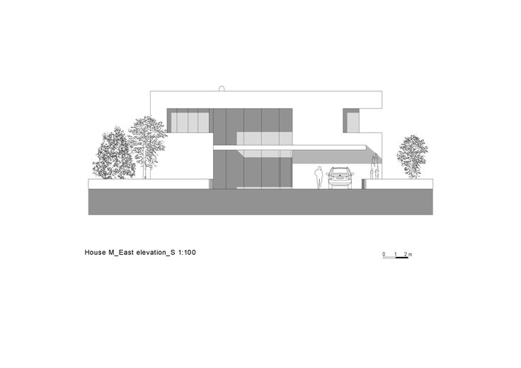 East elevation of House M