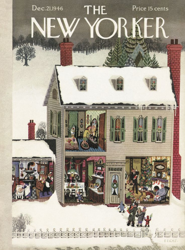 The New Yorker - Saturday, December 21, 1946 - Cover by : Edna Eicke