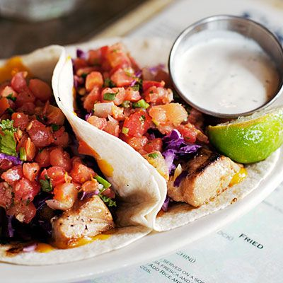 Fish Tacos from South Beach Bar & Grille, San Diego | #food