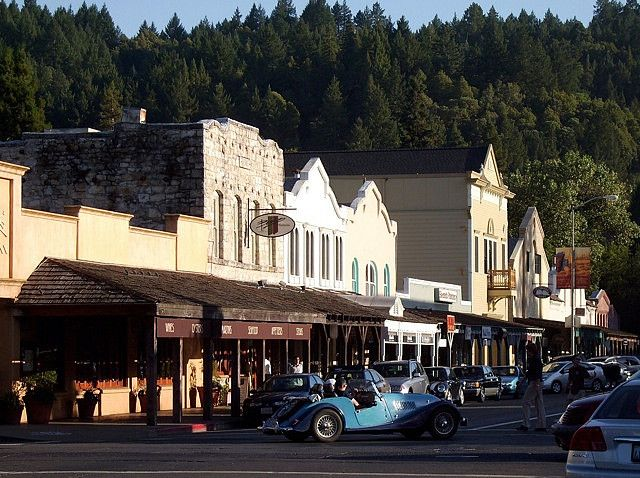 Downtown Calistoga, Napa Valley, California.  Photo: Peter Stetson