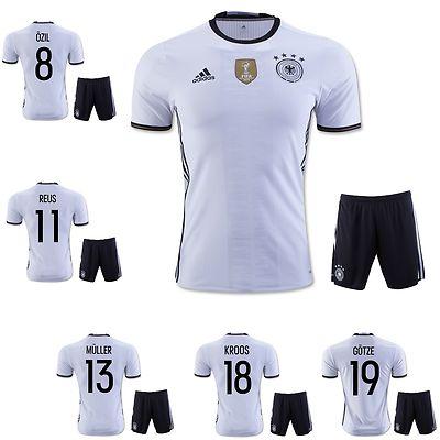 Youth 159111: Germany Home Soccer Kit Jersey +Shorts Kids Enfants Ozil Muller Kroos Gotze Reus -> BUY IT NOW ONLY: $30.99 on eBay!