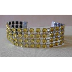 Bracelet strass Jaune