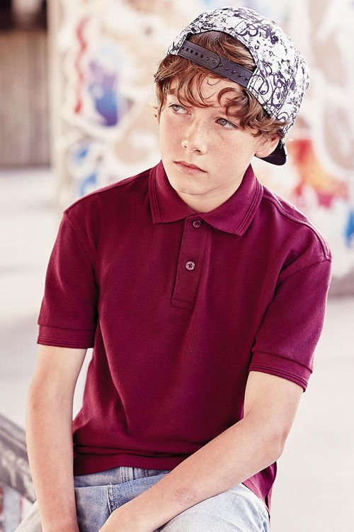 Tricou polo de copii Russell din 65% poliester și 35% bumbac ringspun pique, material foarte rezistent, se poate spăla până la 60°C #personalizare #tricouri #polo #copii