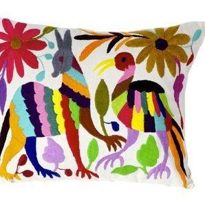 Otomi Folk Art cushion multicolour