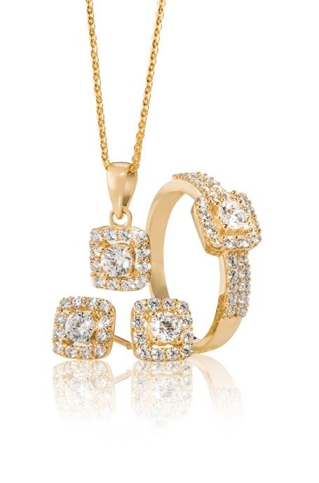 9ct Cubic Zirconia Pendant R988, Ring R1,859 and Earrings R1,495 *Prices Valid Until 25 Dec 2013