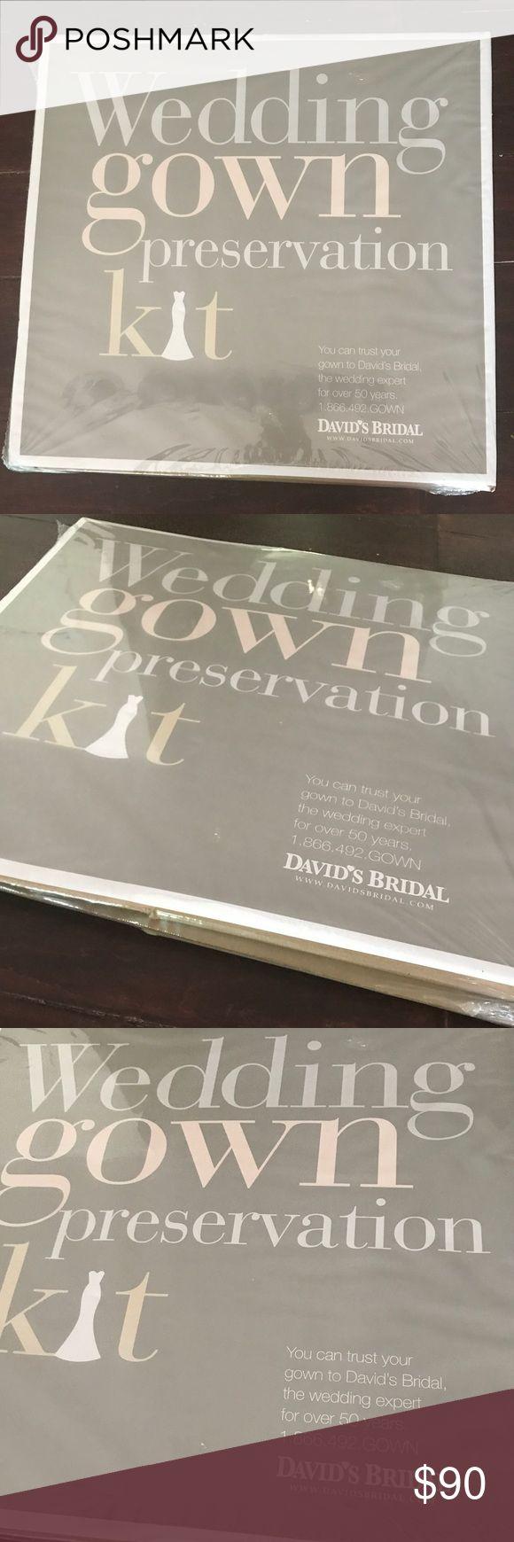 Davids Bridal Wedding Gown Preservation Kit Brand new, hasn't been opened. From Davids Bridal- originally 189.00. Davids Bridal Dresses Wedding