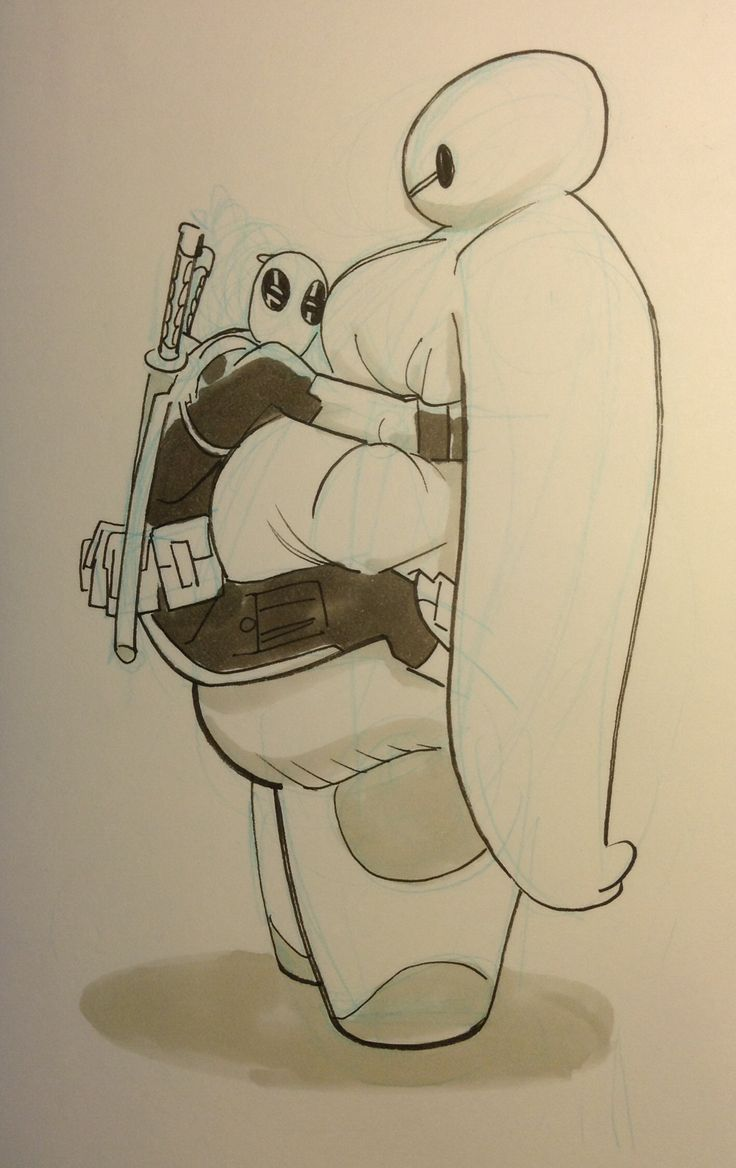 Deadpool meets Baymax by Mike Hawthorne ★ || CHARACTER DESIGN REFERENCES (pinterest.com/characterdesigh) • Do you love Character Design? Join the Character Design Challenge! (link→ www.facebook.com/groups/CharacterDesignChallenge) Share your unique vision of a theme every month, promote your art, learn and make new friends in a community of over 16.000 artists who share your same passion! || ★