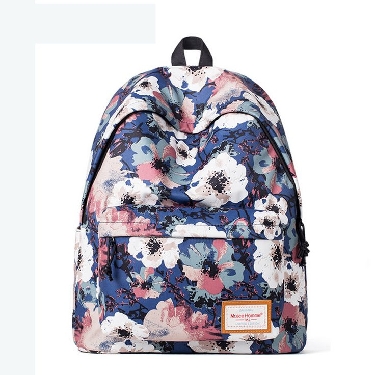 Floral Pattern School Backpack Cute for Girls SB1002