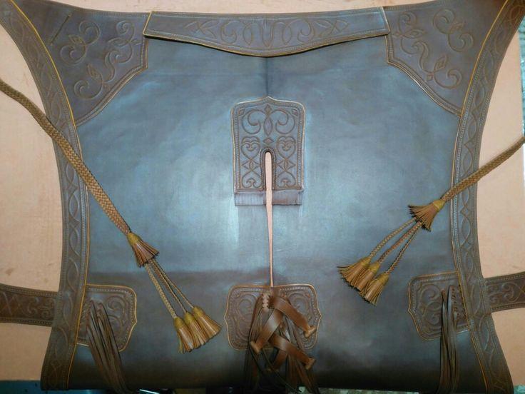 Zahon rociero fabricado a medida con dibujo y características elegidas por el cliente.