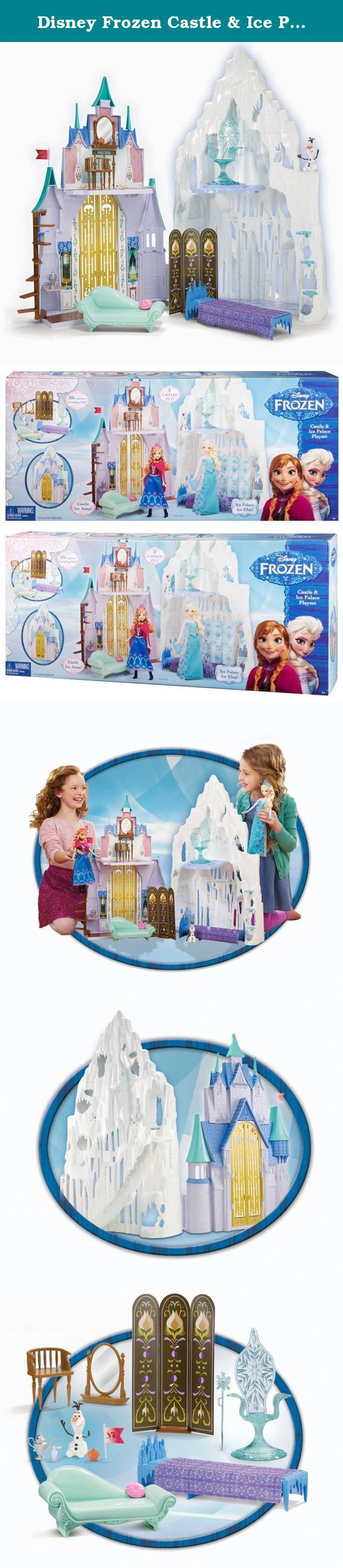 Disney Frozen Castle & Ice Palace Playset. Disney Frozen Castle & Ice Palace Playset: Inspired by the Disney film Frozen, this expandable play set allows girls to re-create the adventures of the film's two lead characters, sisters Anna and Elsa (dolls sold separately), opening to feature two beautiful settings: the impressive manse in Arendelle that Anna calls home and the majestic ice palace Elsa creates high up in the mountains. Anna's half of the playset is the perfect place for the...