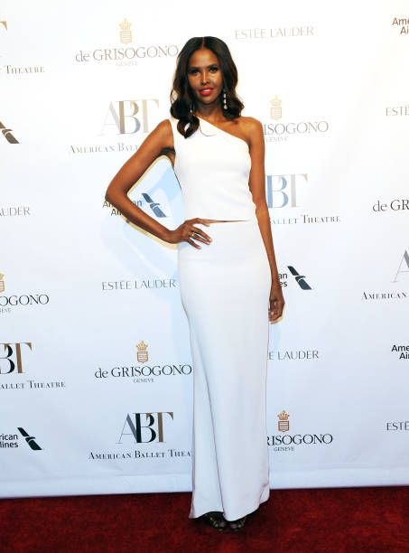 Model Ubah Hassan attends 2017 American Ballet Theatre Fall Gala at David H Koch Theater at Lincoln Center on October 18 2017 in New York City