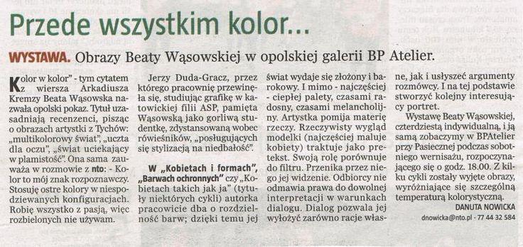 Kolor w Kolor, malarstwo Beaty Wąsowskiej, BP Atelier Opole