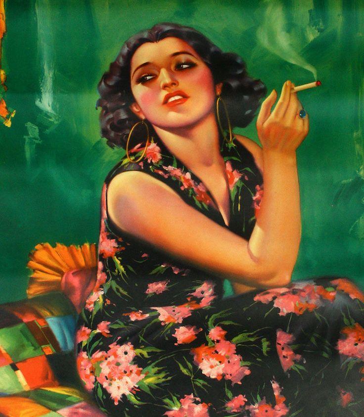 Vintage Calendar Girl Art : Vintage s mexican pin up poster glamorous art deco