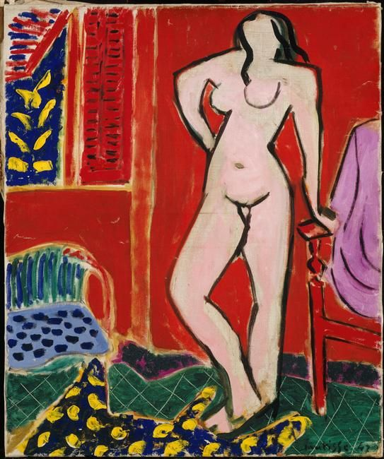 Nu rose, intérieur rouge Matisse Henri (1869-1954) Le Câteau-Cambrésis, musée Matisse - Réunion des Musées Nationaux-Grand Palais -