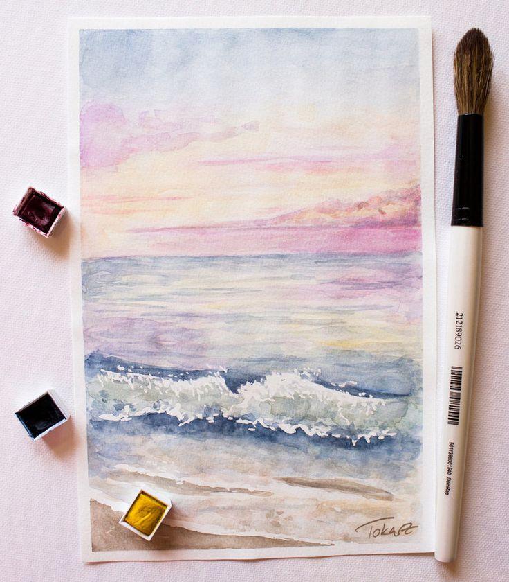 Ocean in Paradise - Watercolour Painting by Pattokarts.deviantart.com on @DeviantArt