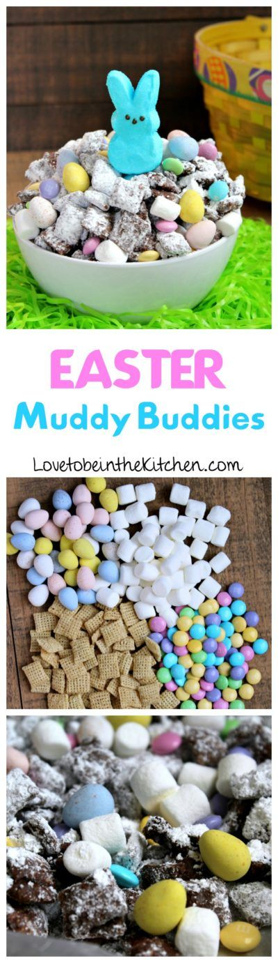 Easter Muddy Buddies- The perfect fun and festive snack mix for Easter!