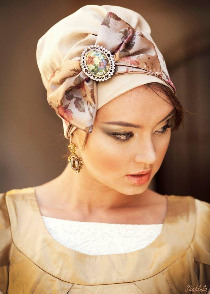 Beige Base Turban +Mocha Bow - Headcoverings | ModLi