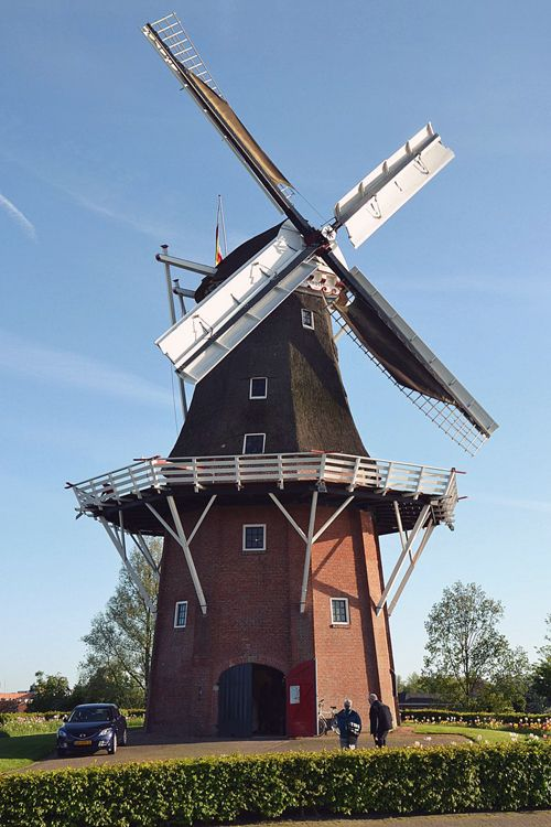 Flour and peel mill Molen Zeldenrust, Dokkum, The Netherlands
