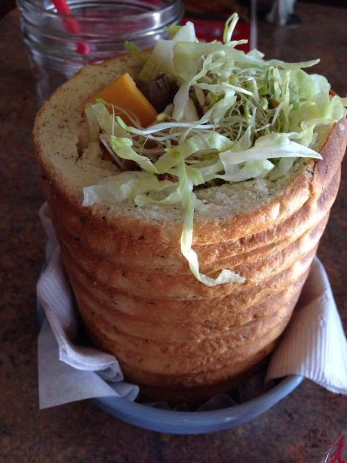 The Staggering Ox has gotten national attention for its delicious and bizarre sandwiches, which are served in hollowed out bread. You'll find this Montana chain in Helena, Missoula, Billings and Butte.